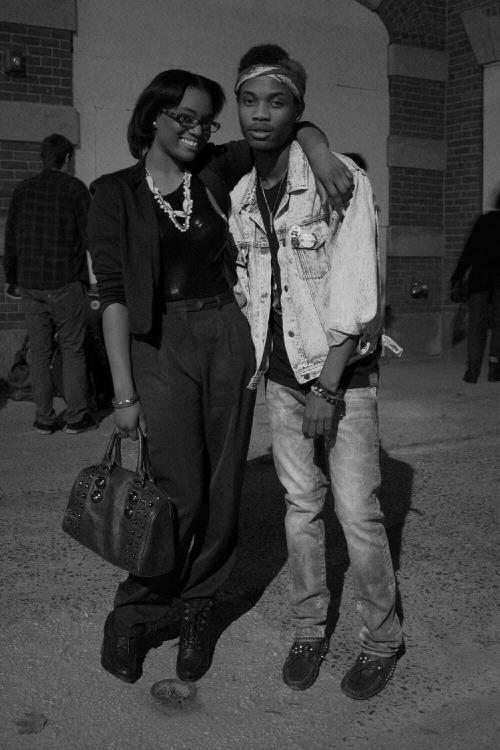 Robyn Modest & PR at his Exhibit .1 Fashion Show last fall at the Firehouse Gallery. PR is wearing a blouse from Modest Apparal
