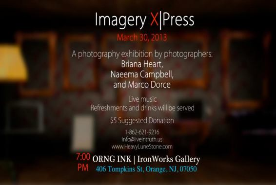 Imagery X|Press Photography Show, March 30 @ ORNG ink