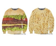 burger and fries, c:@belovedshirts