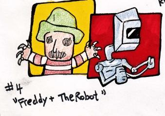 Freddy & The Robot illustration: gamal jones