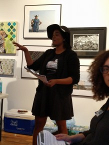 Giving the Valley Girl Presentation at the Takeover - Networking event at the Firehouse Gallery
