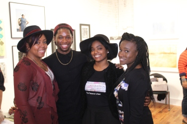 Brittany, Nia, P.R., & Seindole at The Takeover Networking Event