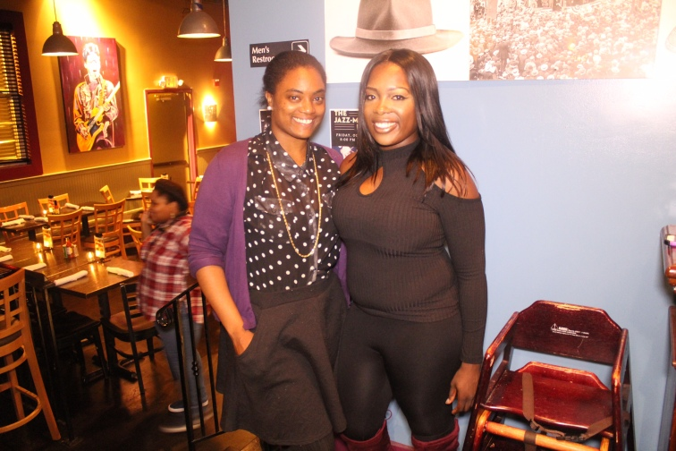 P.R. and Kadi Cisse (King Kittee) at Speed Dating Event at Hat City Kitchen